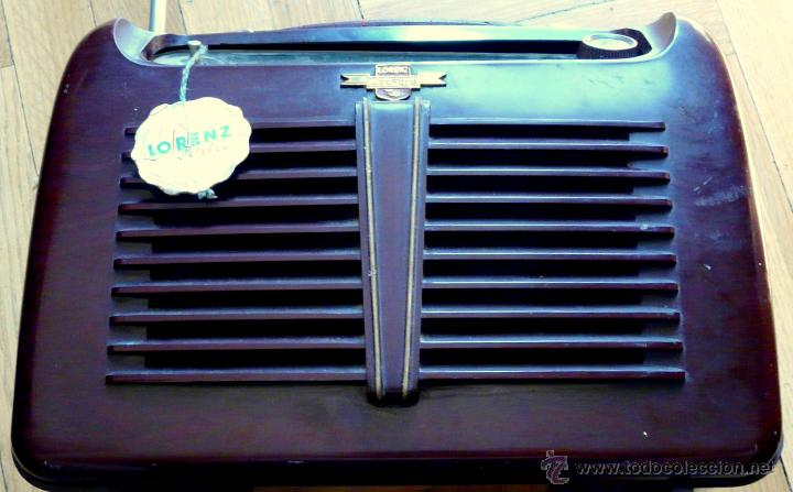 Radios de válvulas: RADIO LORENZ WEEKEND 1953 - DE VALVULAS, PORTABLE - Foto 11 - 45219401