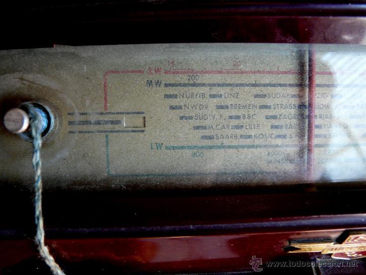 Radios de válvulas: RADIO LORENZ WEEKEND 1953 - DE VALVULAS, PORTABLE - Foto 13 - 45219401