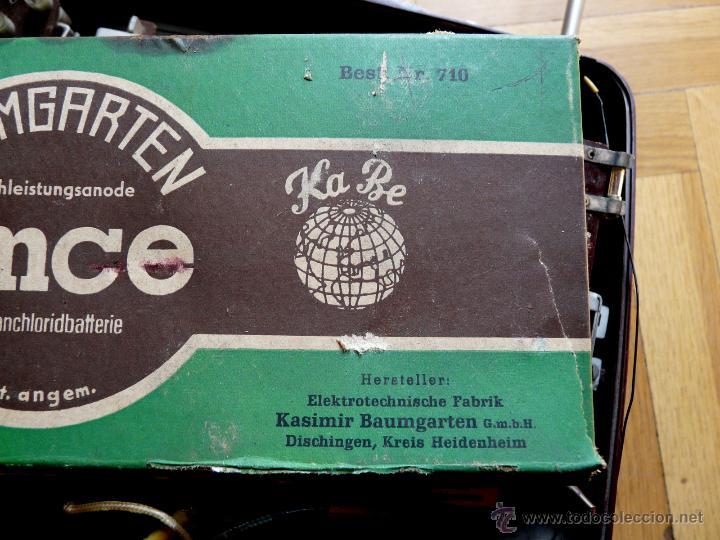 Radios de válvulas: RADIO LORENZ WEEKEND 1953 - DE VALVULAS, PORTABLE - Foto 17 - 45219401