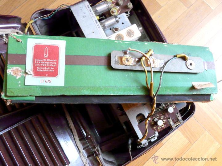 Radios de válvulas: RADIO LORENZ WEEKEND 1953 - DE VALVULAS, PORTABLE - Foto 19 - 45219401