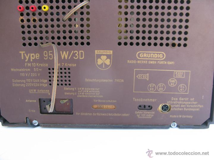 Radios de válvulas: radio marca grundig model 955 3d klang made in W germany funciona perfectamente - Foto 3 - 45696771