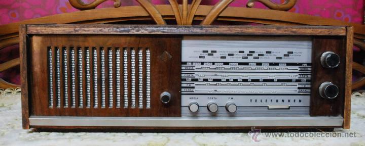 RADIO VALVULAS TELEFUNKEN INTERMEZZO A 2747 FM AÑOS 60 FUNCIONA (Radios, Gramófonos, Grabadoras y Otros - Radios de Válvulas)