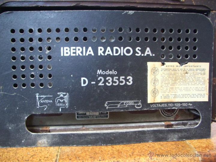 Radios de válvulas: radio IBERIA a valvulas y funciona en todas las bandas. - Foto 6 - 45978283