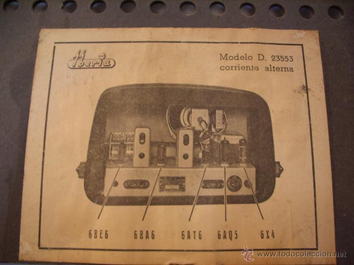 Radios de válvulas: radio IBERIA a valvulas y funciona en todas las bandas. - Foto 8 - 45978283