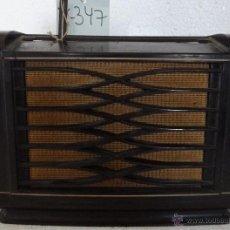 Radios de válvulas: RADIO PHILIPS EN MADERA - 347. Lote 43009504