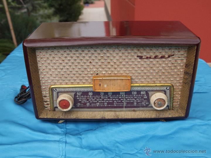 RADIO A VALVULAS INTER, MODELO GOBI , FABRICADA EN ESPAÑA A FINALES DE LOS 50 (Radios, Gramófonos, Grabadoras y Otros - Radios de Válvulas)