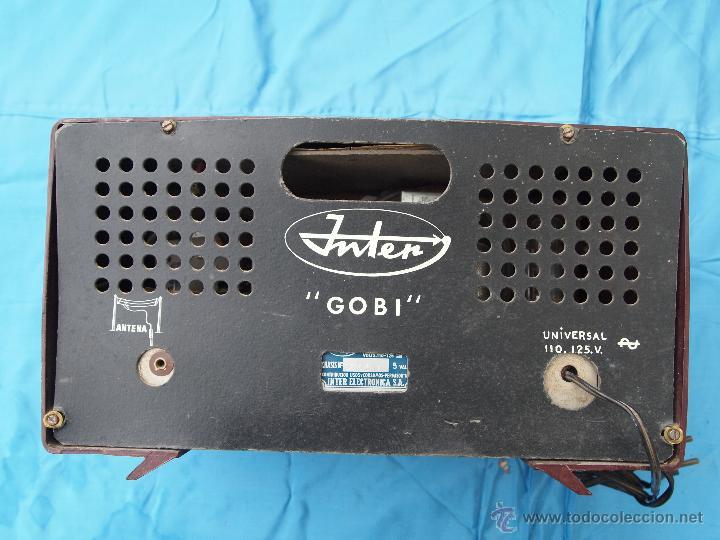 Radios de válvulas: RADIO A VALVULAS INTER, MODELO GOBI , FABRICADA EN ESPAÑA A FINALES DE LOS 50 - Foto 5 - 46765293