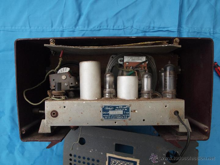 Radios de válvulas: RADIO A VALVULAS INTER, MODELO GOBI , FABRICADA EN ESPAÑA A FINALES DE LOS 50 - Foto 7 - 46765293