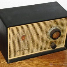 Radios de válvulas: ANTIGUA VINTAGE RADIO VALVULAS VALVULAR PHILIPS EN BAQUELITA FUNCIONANDO. Lote 46789269