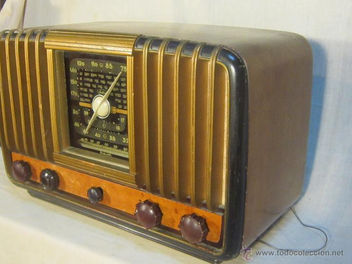 Radios de válvulas: RADIO INTER ELECTRONICA S.A. BARCELONA MOD. OVERKAL 615-D - Foto 4 - 47380079