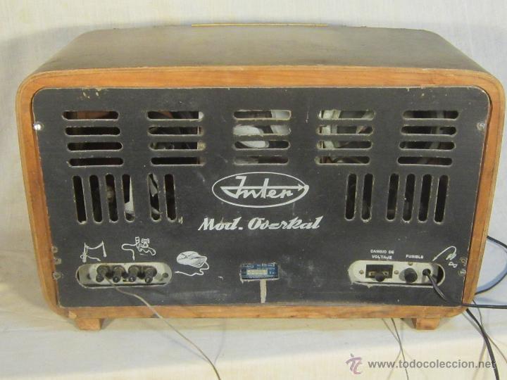 Radios de válvulas: RADIO INTER ELECTRONICA S.A. BARCELONA MOD. OVERKAL 615-D - Foto 7 - 47380079