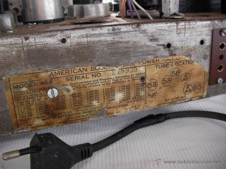 Radios de válvulas: ANTIGUA RADIO A VALVULAS PARA RESTAURAR O COMO DONANTE - Foto 4 - 47788568