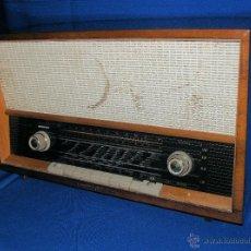 Radios de válvulas: RADIO EN MADERA DE VÁLVULAS LOEWE OPTA, MODELO PLANET TIPO 420 25 FUNCIONANDO 220 V.. Lote 49030722