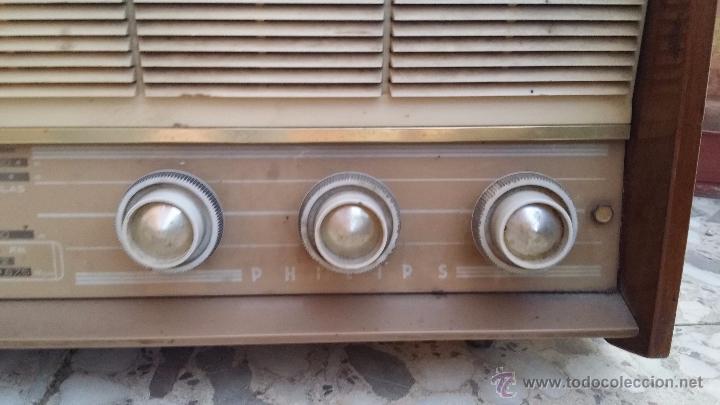 Radios de válvulas: antigua radio philips, funciona - Foto 3 - 49292082