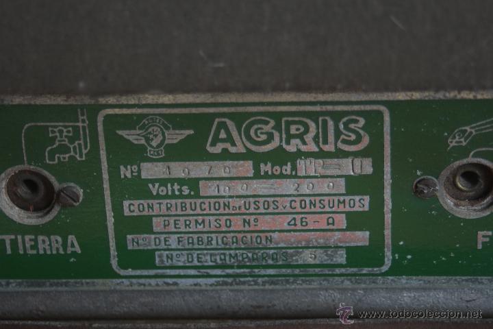 Radios de válvulas: ANTIGUA RADIO AGRIS MOD TP=U - Foto 8 - 44066935