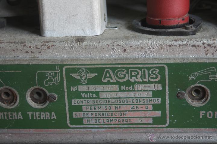 Radios de válvulas: ANTIGUA RADIO AGRIS MOD TP=U - Foto 9 - 44066935