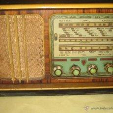 Radios de válvulas: ANTIGUA RADIO DE MADERA CAMPEROL II - FUNCIONA. Lote 50155283