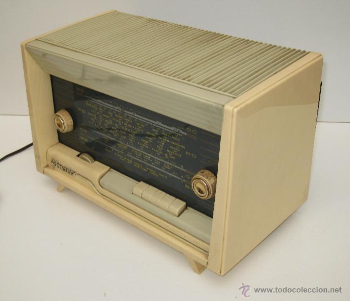 Radios de válvulas: PRECIOSA RADIO ANTIGUA SCHNEIDER CALYPSO BAKELITA A VALVULAS DECORACION VINTAGE O POP - Foto 7 - 50161904