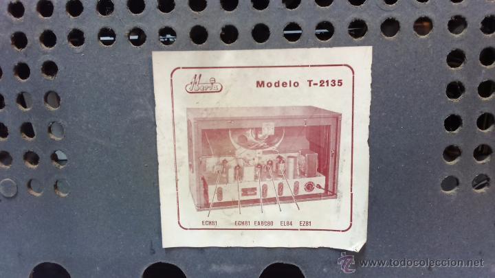 Radios de válvulas: RADIO IBERIA. MOD. T-2135. A VALVULAS. EN FUNCIONAMIENTO. AÑO 1960. - Foto 15 - 50282144