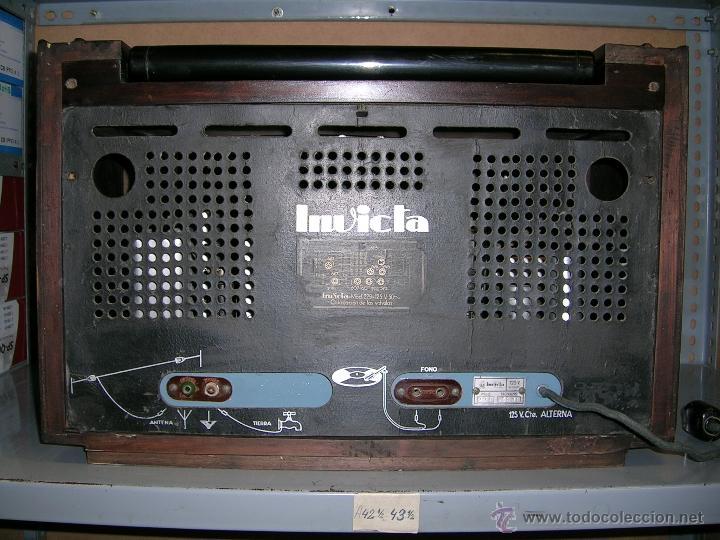 Radios de válvulas: RADIO INVICTA - Foto 5 - 50357378