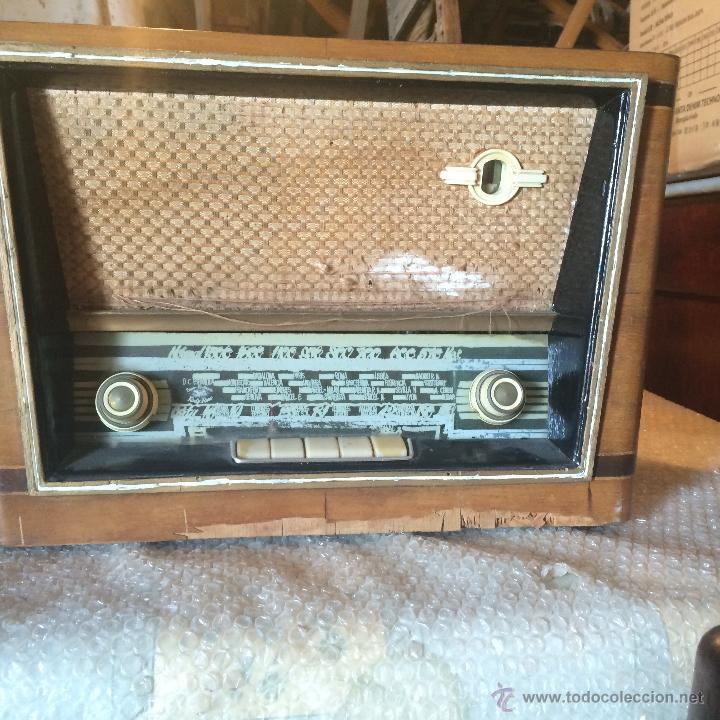 Radios de válvulas: Antigua radio super electronic Radio René de los años 40 - Foto 2 - 50373302