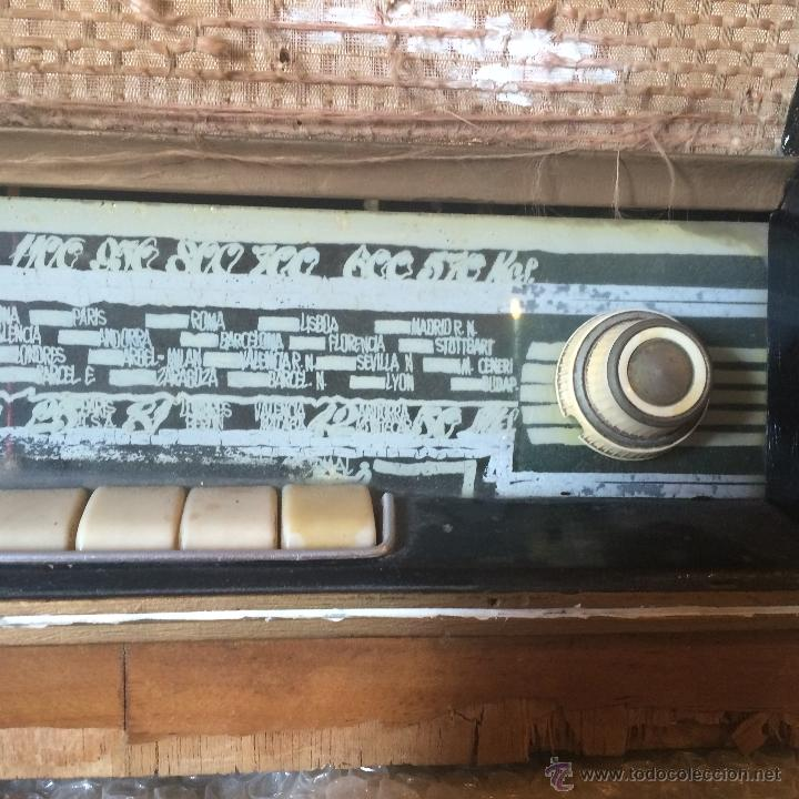 Radios de válvulas: Antigua radio super electronic Radio René de los años 40 - Foto 3 - 50373302