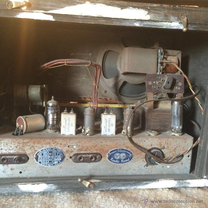 Radios de válvulas: Antigua radio super electronic Radio René de los años 40 - Foto 6 - 50373302