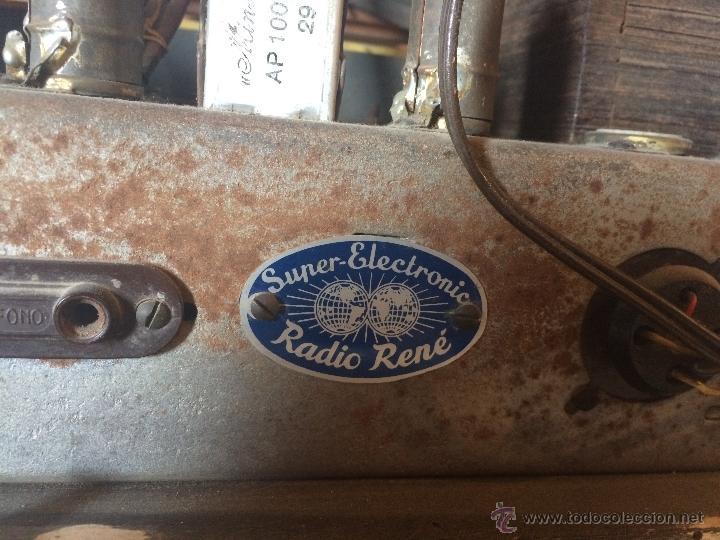 Radios de válvulas: Antigua radio super electronic Radio René de los años 40 - Foto 7 - 50373302