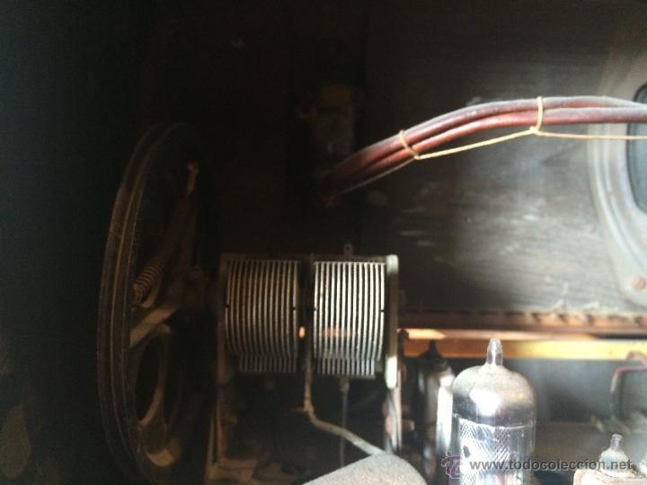Radios de válvulas: Antigua radio super electronic Radio René de los años 40 - Foto 9 - 50373302