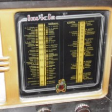 Radios de válvulas: RADIO INVICTA. 1940S.-50S. FUNCIONANDO.. Lote 50416166