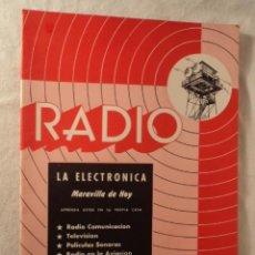 Radios de válvulas: ANTIGUA REVISTA RADIO TELEVISON PELICULAS SONORAS AÑOS 30. Lote 50640064