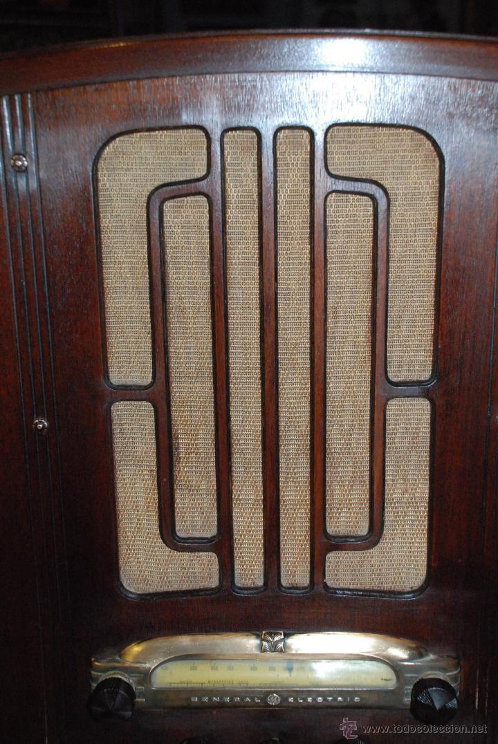 Radios de válvulas: ESPECTACULAR RADIO GENERAL ELECTRIC AÑOS 40 FUNCIONANDO - Foto 5 - 54407641