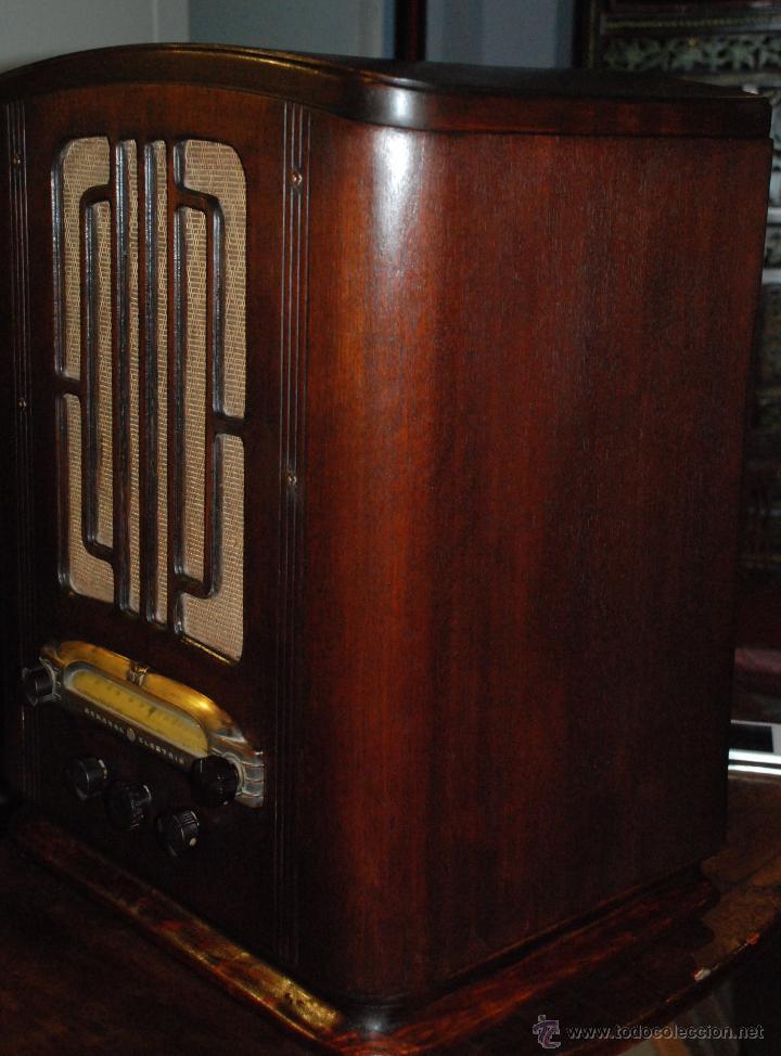 Radios de válvulas: ESPECTACULAR RADIO GENERAL ELECTRIC AÑOS 40 FUNCIONANDO - Foto 6 - 54407641