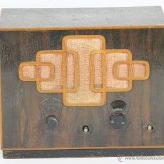 Radios de válvulas: RADIO A VALVULAS LA VOZ DE SU AMO. HIS MASTERVOICE. MUEBLE EN CAOBA. CIRCA 1920.. Lote 69785005