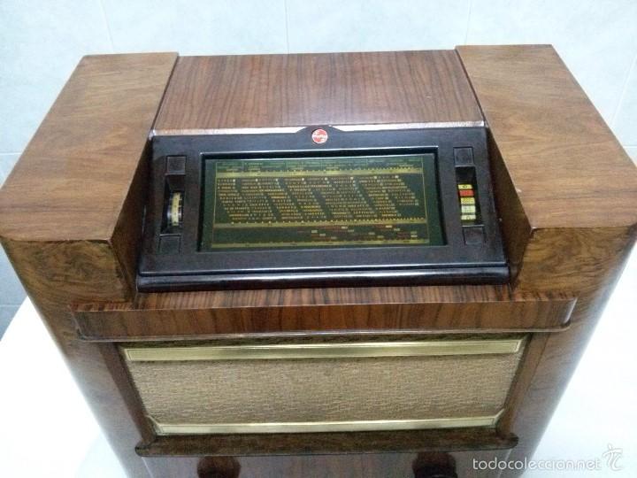 Radios de válvulas: ANTIGUA PHILIPS 695 A (1936) FUNCIONANDO Y EN BUEN ESTADO . VER VÍDEO - Foto 12 - 55158880
