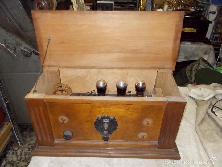 Radios de válvulas: Radio cofre años 20 - Foto 2 - 56535215