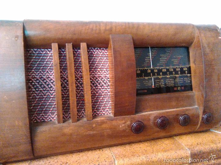 Radios de válvulas: RADIO MUY ANTIGUA FUNCIONA MUY BIEN - Foto 6 - 56568230