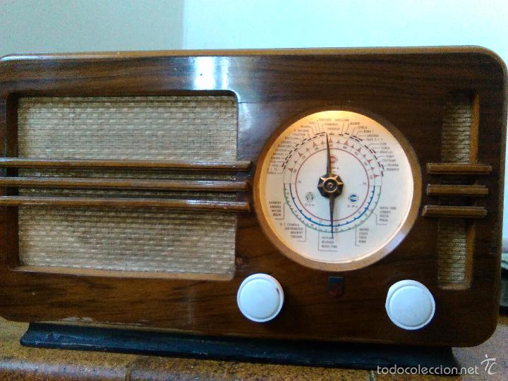 Radios de válvulas: RADIO PHILIPS FUNCIONA - Foto 6 - 196492707