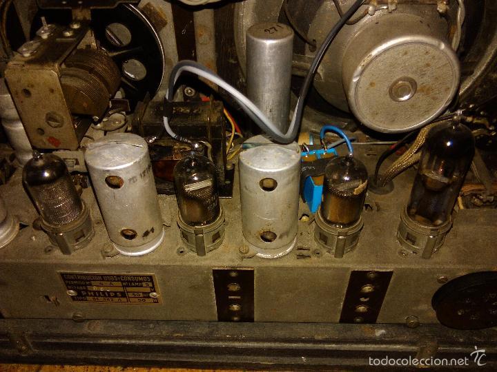 Radios de válvulas: RADIO PHILIPS FUNCIONA - Foto 4 - 196492707