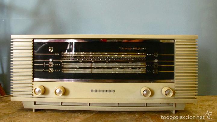 Radios de válvulas: RADIO PHILIPS ANTIGUA VALVULAS 3 BAND PLANO VINTAGE AÑOS 60 - Foto 4 - 57618645