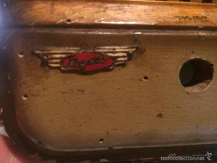 Radios de válvulas: Antigua radio a Válvulas de madera y dial cuadrado de cristal años 40 radio marca Brunet - Foto 6 - 58447353