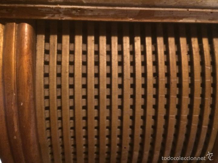 Radios de válvulas: Antigua radio a Válvulas de madera y dial cuadrado de cristal años 40 radio marca Brunet - Foto 8 - 58447353