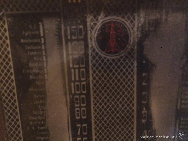 Radios de válvulas: Antigua radio a Válvulas de madera y dial cuadrado de cristal años 40 radio marca Brunet - Foto 11 - 58447353