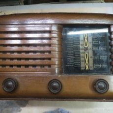 Radios de válvulas: ANTIGUA RADIO CLARION RA 5,D DE MADERA AÑOS 40 FUNCIONANDO,. Lote 58671190