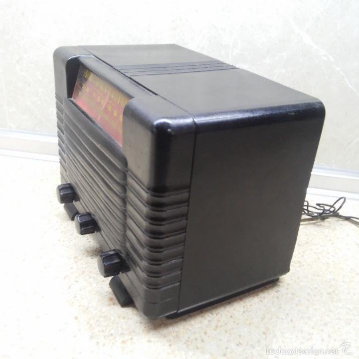 Radios de válvulas: VINTAGE, PRECIOSA RADIO ANTIGUA DE VALVULAS AMERICANA EN BAQUELITA NEGRA * FUNCIONANDO * - Foto 6 - 59864928