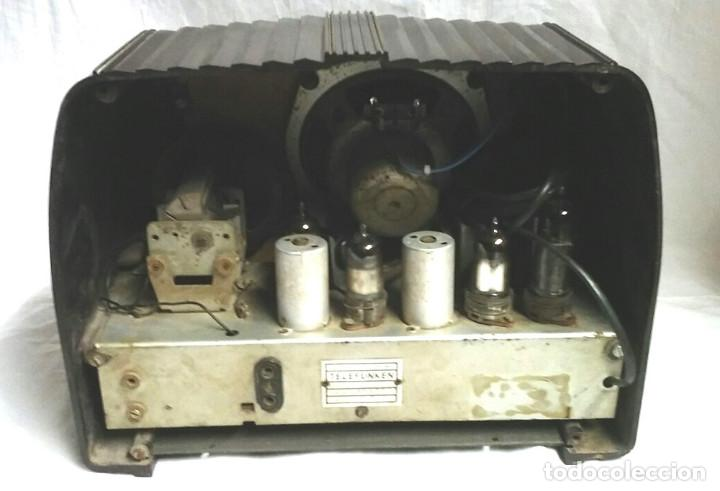 Radios de válvulas: Telefunken Trovador U1653 año 1953, baquelita en buen estado, funciona. - Foto 3 - 103767455