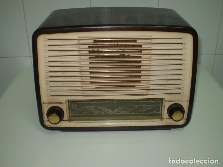 RADIO DE VALVULAS PHILIPS MOD-BE452A ¡¡¡¡FUNCIONA!!!!. (Radios, Gramófonos, Grabadoras y Otros - Radios de Válvulas)