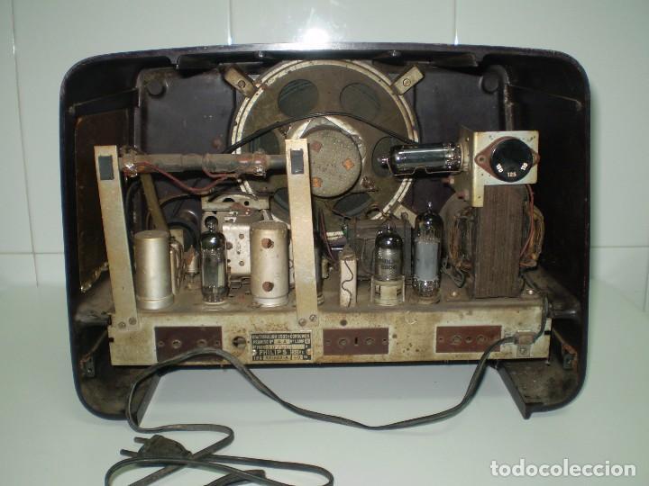 Radios de válvulas: RADIO DE VALVULAS PHILIPS MOD-BE452A ¡¡¡¡FUNCIONA!!!!. - Foto 4 - 64393135