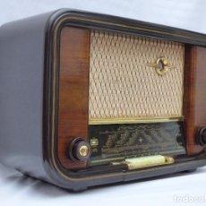 Radios de válvulas: ANTIGUA RADIO DE VÁLVULAS WEGA, HEROLD, IMPECABLE, FUNCIONANDO (VER FOTOS Y VÍDEO). Lote 95593766