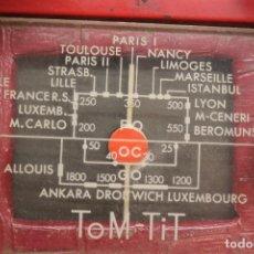 Radios de válvulas: RADIO TOM TIT, DE LÁMPARAS, COLOR ROJO, 21X17 CM, CON SU FUNDA, MADE IN FRANCE, 1950. Lote 73444303